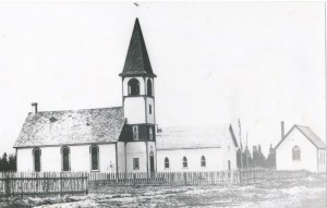 "The first Lac du Bonnet Roman Catholic "" Notre Dame du Lac Parish"" with attendance of 140 people in 1910."