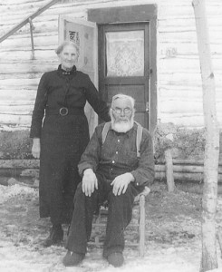 Mr. and Mrs. Jean Baptiste David, circa 1936 in front of their home in Crescent Bay